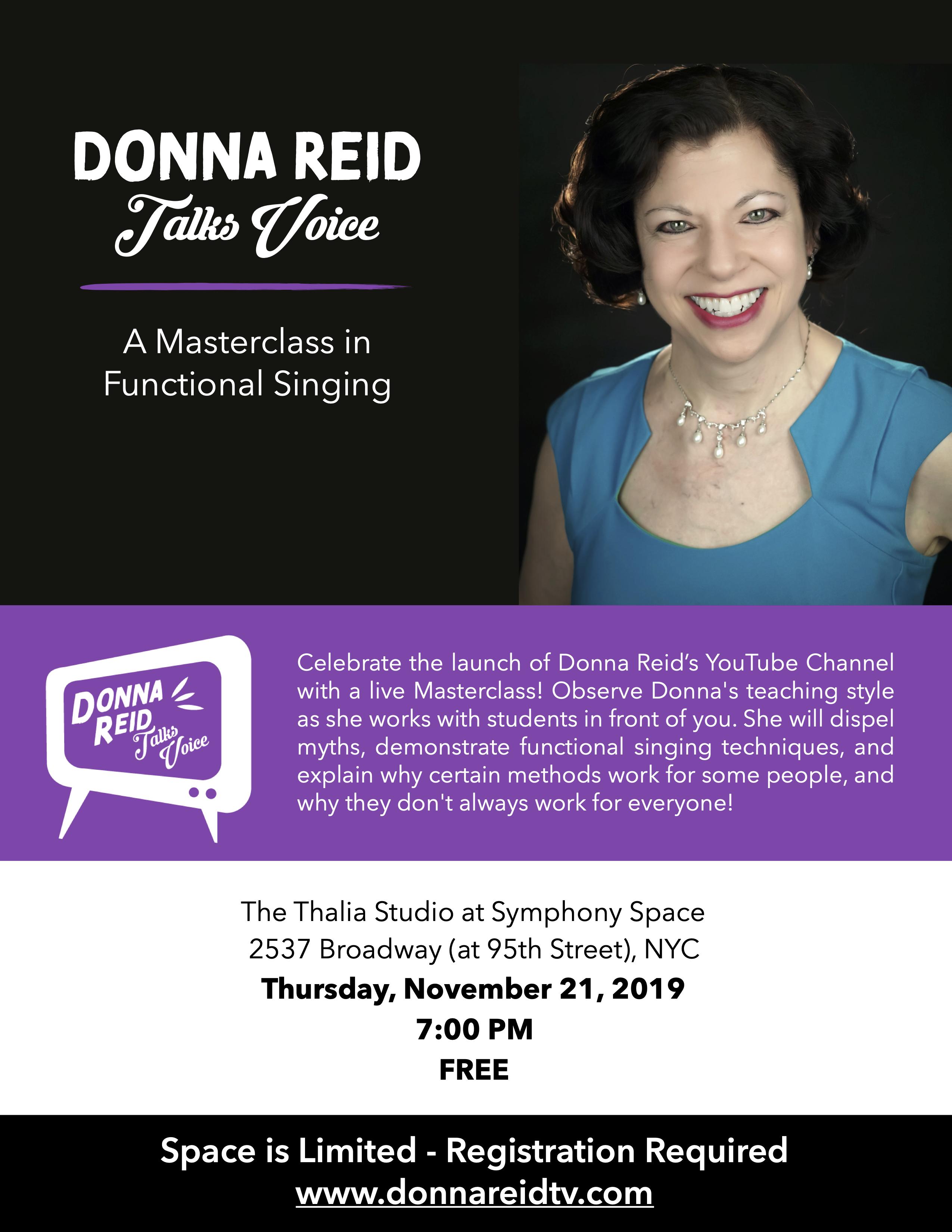 Donna Reid TV Masterclass flyer jpg